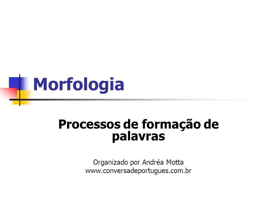 Morfologia Processos de formação de palavras Organizado por Andréa Motta www.conversadeportugues.com.br