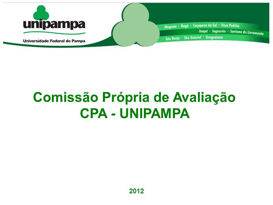 Comissão Própria de Avaliação CPA - UNIPAMPA 2012