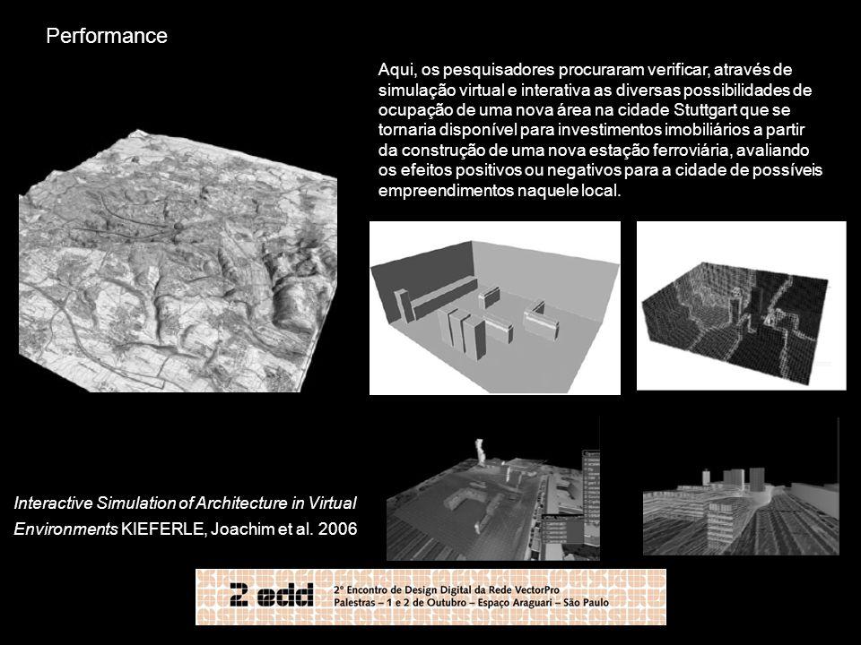 Aqui, os pesquisadores procuraram verificar, através de simulação virtual e interativa as diversas possibilidades de ocupação de uma nova área na cida