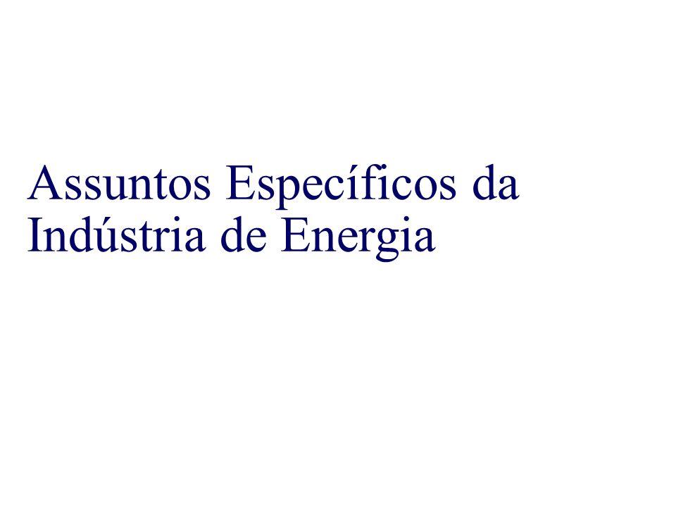 Assuntos Específicos da Indústria de Energia