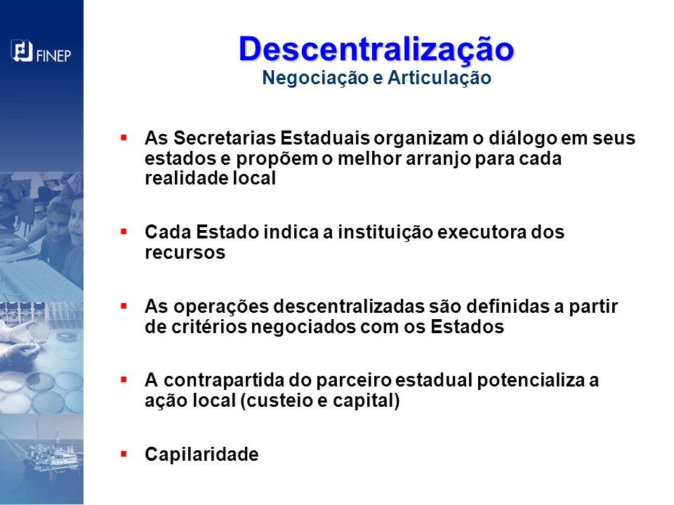 As Secretarias Estaduais organizam o diálogo em seus estados e propõem o melhor arranjo para cada realidade local Cada Estado indica a instituição exe