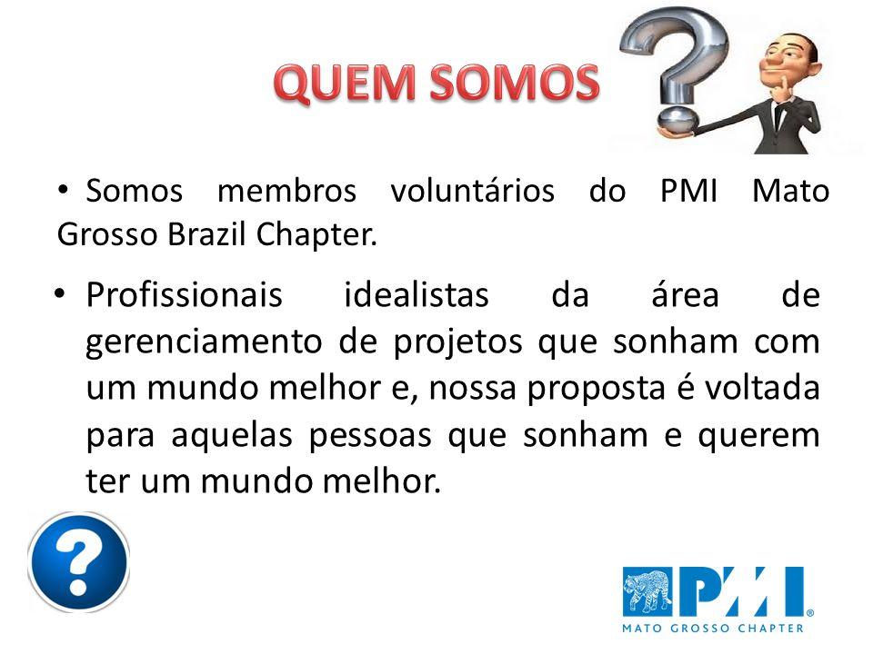 Promover o profissionalismo e a ética em gerenciamento de projetos em Mato Grosso, integrando membros, voluntários e organizações na busca por melhores resultados em projetos.