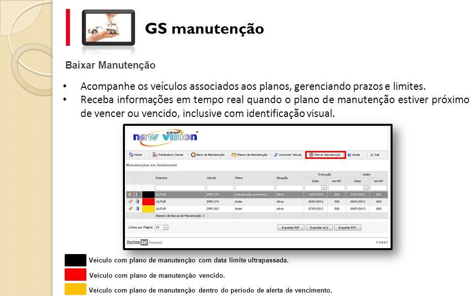 Baixar Manutenção GS manutenção Acompanhe os veículos associados aos planos, gerenciando prazos e limites. Receba informações em tempo real quando o p