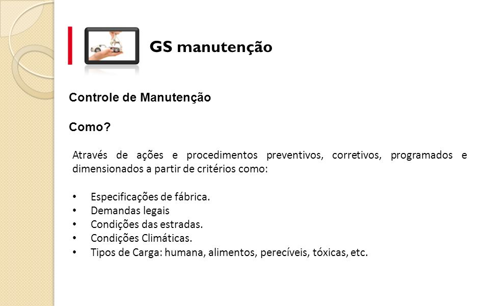 Controle de Manutenção Como.