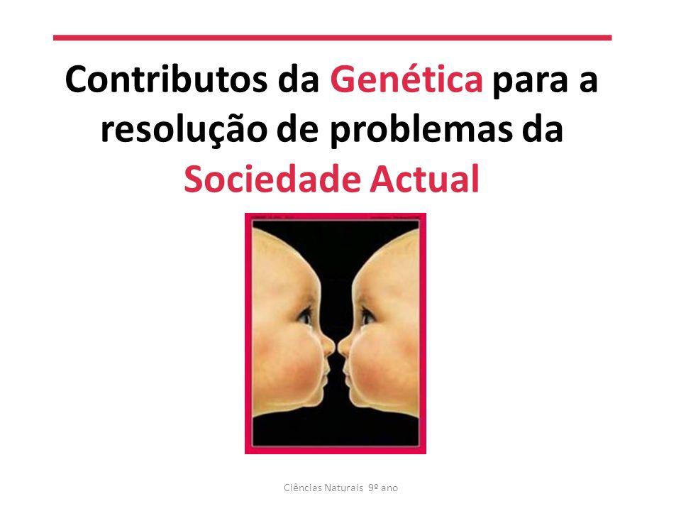 Contributos da Genética Ciências Naturais 9º ano Produção de alimentos Clonagem terâpeutica Clonagem Planeamento familiar Produção de medicamentos Terapia genética