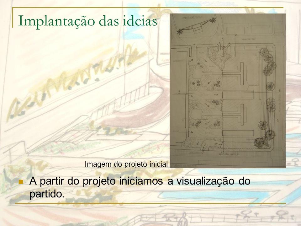 Representação Gráfica Com a representação gráfica é possível imaginar as visualidades do projeto.