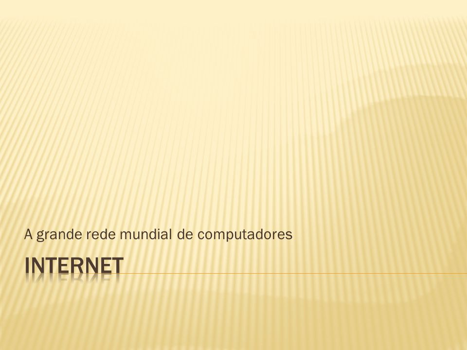 A World Wide Web (WEB ou WWW) é uma sistema de documentos com informações de vários tipos de mídias (como vídeos, sons, textos dinâmicos e figuras) interligados que é executado na Internet.