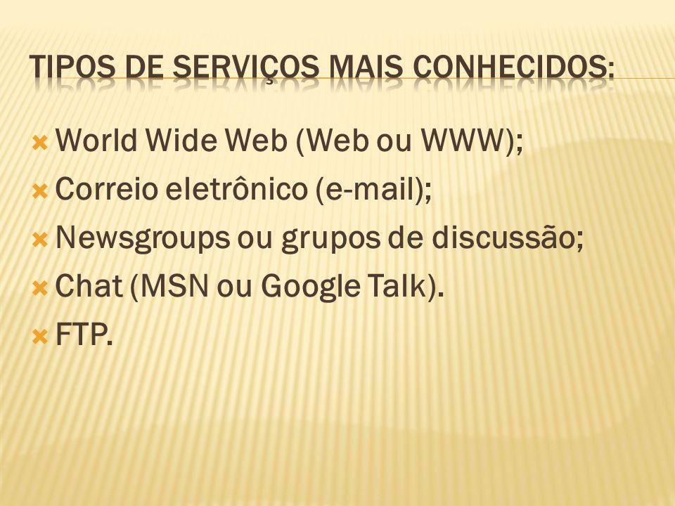 Como falado anteriormente, a Web é composta por vários documentos que são chamados de páginas ou sites.