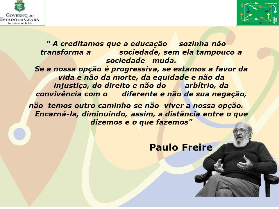 A creditamos que a educação sozinha não transforma a sociedade, sem ela tampouco a sociedade muda.