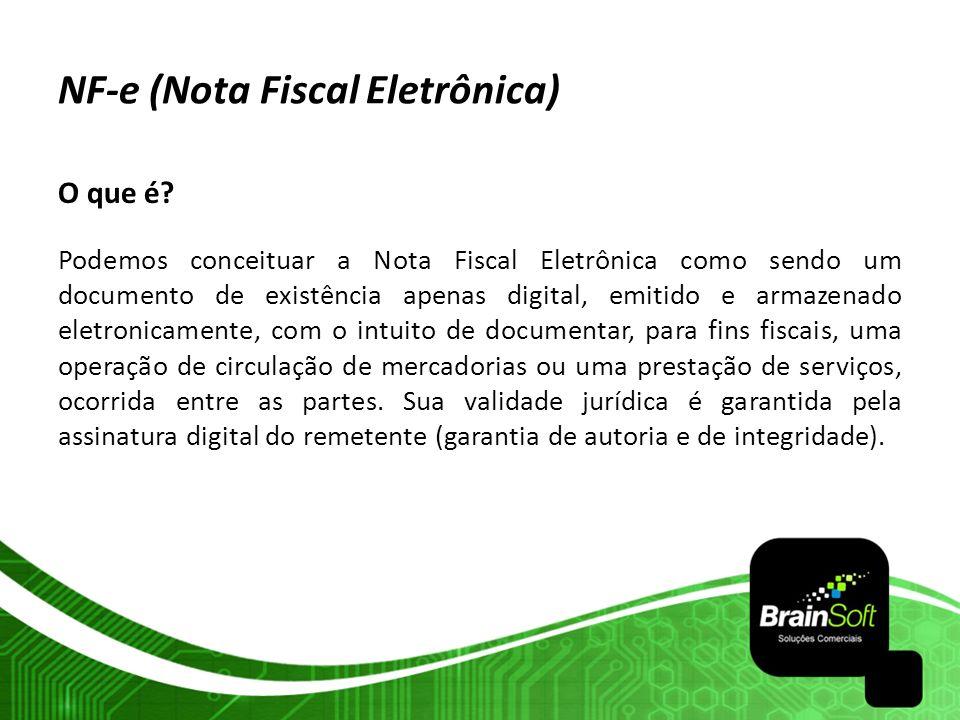O que é? Podemos conceituar a Nota Fiscal Eletrônica como sendo um documento de existência apenas digital, emitido e armazenado eletronicamente, com o