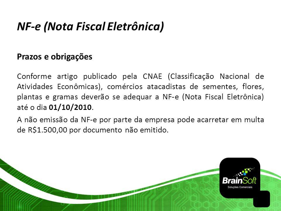 NF-e (Nota Fiscal Eletrônica) Prazos e obrigações Conforme artigo publicado pela CNAE (Classificação Nacional de Atividades Econômicas), comércios ata