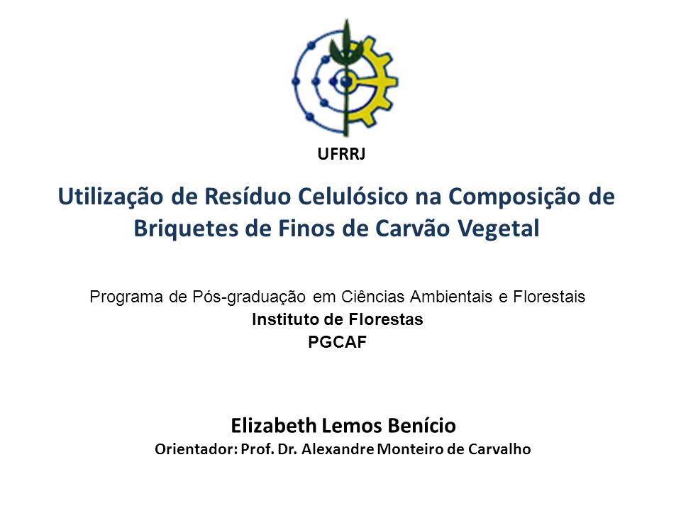 Utilização de Resíduo Celulósico na Composição de Briquetes de Finos de Carvão Vegetal Programa de Pós-graduação em Ciências Ambientais e Florestais I