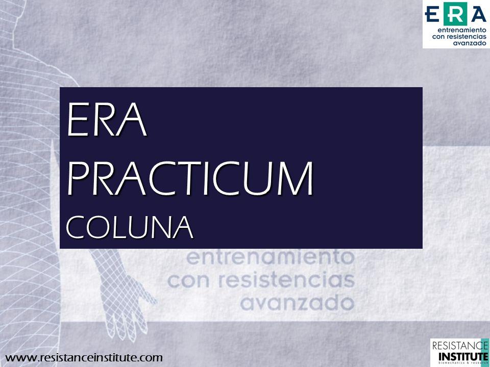 www.resistanceinstitute.com ERAPRACTICUMCOLUNA