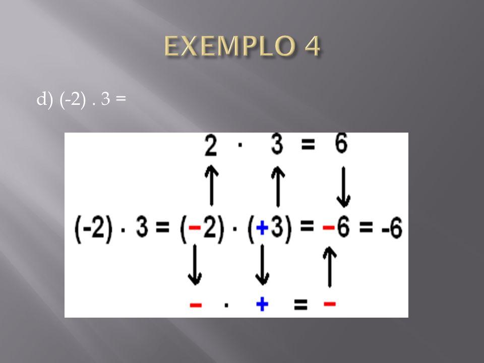 d) (-2). 3 =