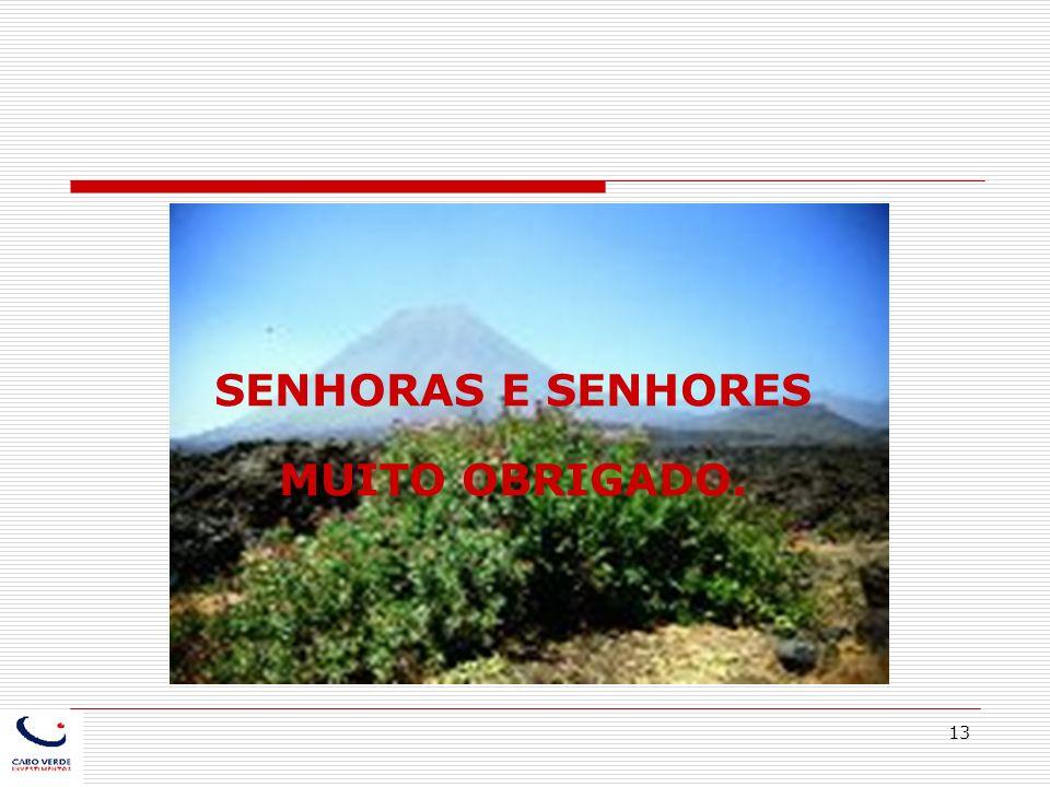13 SENHORAS E SENHORES MUITO OBRIGADO.
