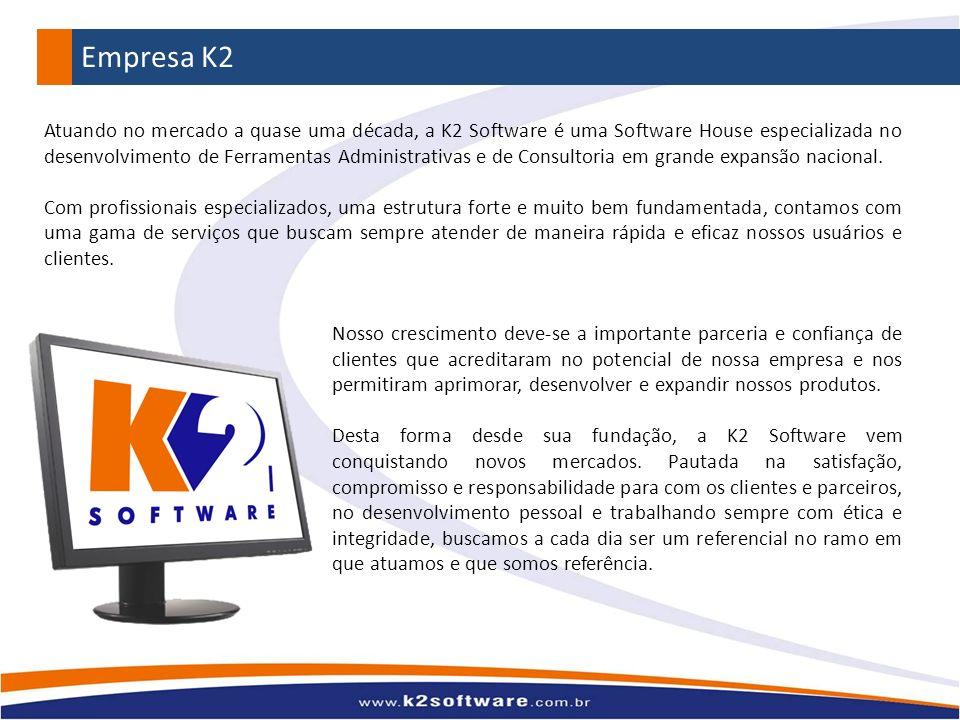 Atuando no mercado a quase uma década, a K2 Software é uma Software House especializada no desenvolvimento de Ferramentas Administrativas e de Consult