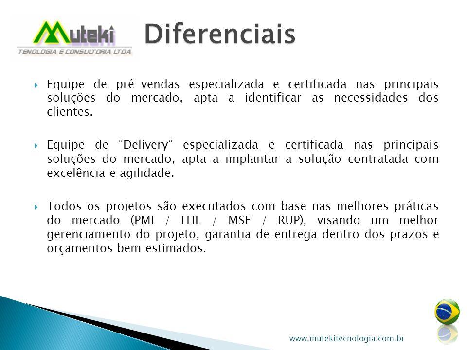 Equipe de pré-vendas especializada e certificada nas principais soluções do mercado, apta a identificar as necessidades dos clientes. Equipe de Delive