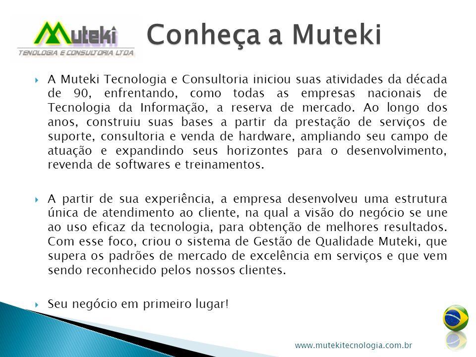 A Muteki Tecnologia e Consultoria iniciou suas atividades da década de 90, enfrentando, como todas as empresas nacionais de Tecnologia da Informação,