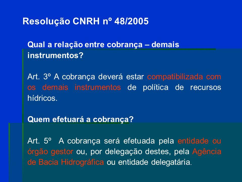 Art. 6º A que está condicionada a cobrança? I - À proposição das acumulações, derivações, captações consideradas insignificantes pelo CBH e sua aprova