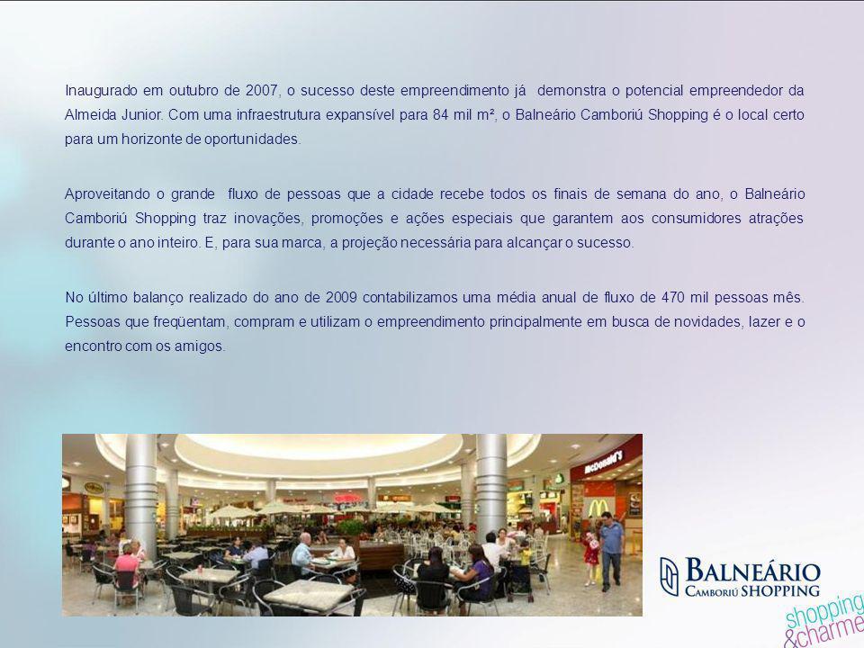 Inaugurado em outubro de 2007, o sucesso deste empreendimento já demonstra o potencial empreendedor da Almeida Junior. Com uma infraestrutura expansív