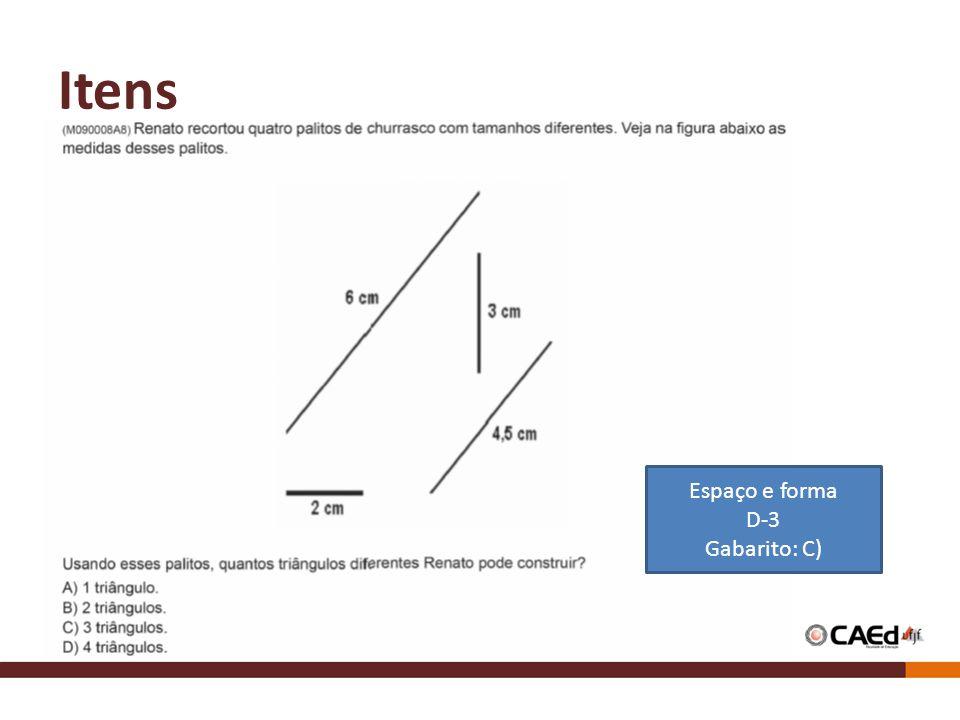 Itens Espaço e forma D-3 Gabarito: C)