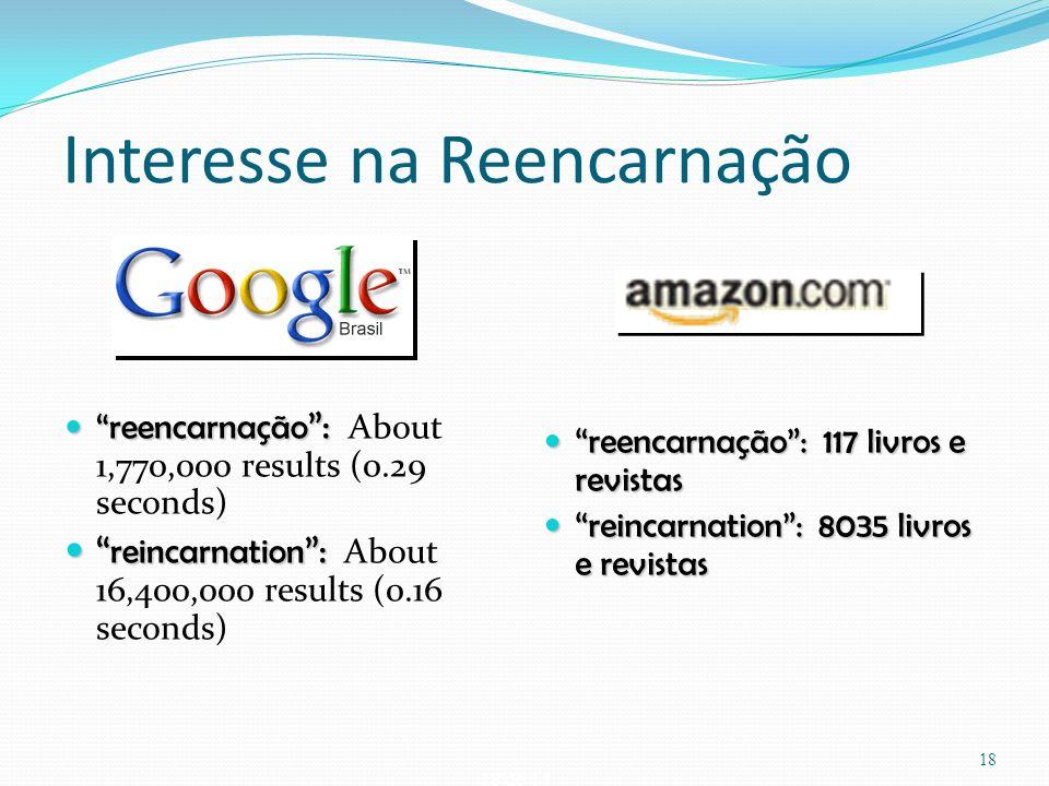 18 de 14 Interesse na Reencarnação reencarnação : reencarnação : About 1,770,000 results (0.29 seconds) reincarnation : reincarnation : About 16,400,0