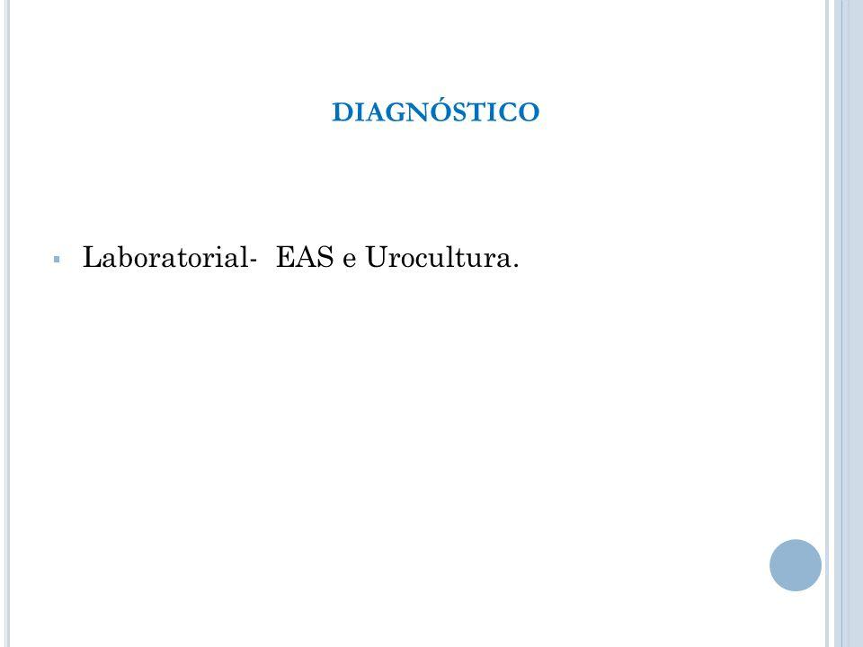 Laboratorial- EAS e Urocultura. DIAGNÓSTICO