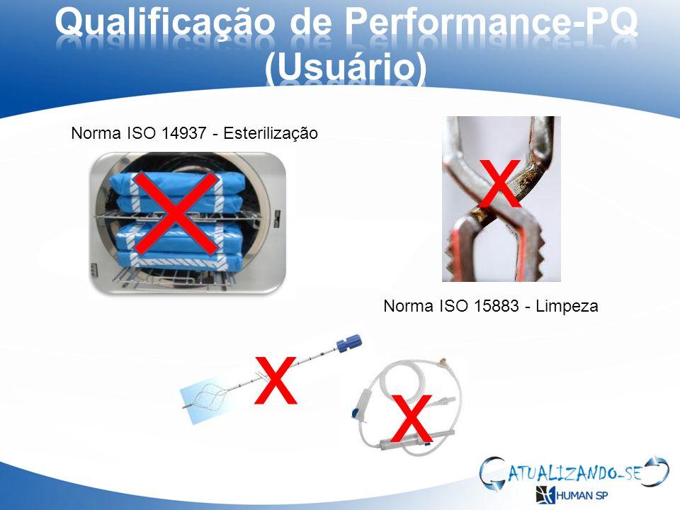 x x x Norma ISO 15883 - Limpeza Norma ISO 14937 - Esterilização