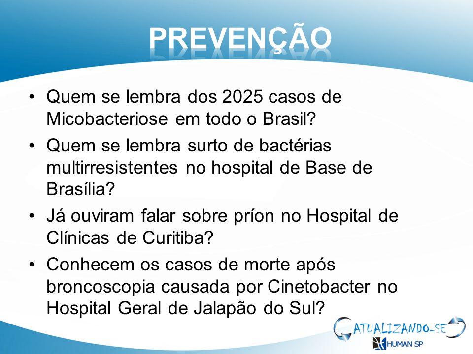 Quem se lembra dos 2025 casos de Micobacteriose em todo o Brasil? Quem se lembra surto de bactérias multirresistentes no hospital de Base de Brasília?