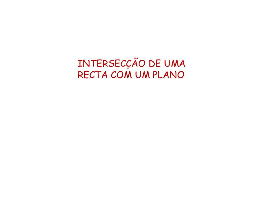 INTERSECÇÃO DE UMA RECTA COM UM PLANO