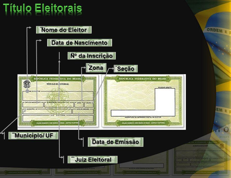Nome do Eleitor Data de Nascimento Nº da Inscrição Município/ UF Município/ UF Juiz Eleitoral Juiz Eleitoral Data de Emissão Zona Seção