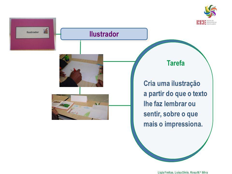 Lígia Freitas, Luísa Dinis, Rosa M.ª Silva Ilustrador Tarefa Cria uma ilustração a partir do que o texto lhe faz lembrar ou sentir, sobre o que mais o