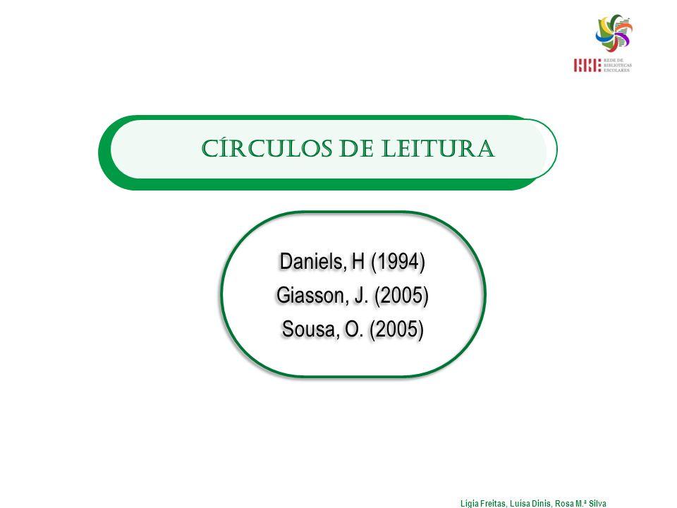 Círculos de Leitura Daniels, H (1994) Giasson, J. (2005) Sousa, O. (2005) Daniels, H (1994) Giasson, J. (2005) Sousa, O. (2005) Lígia Freitas, Luísa D