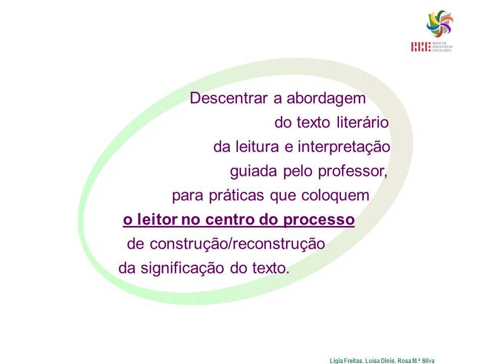 Descentrar a abordagem do texto literário da leitura e interpretação guiada pelo professor, para práticas que coloquem o leitor no centro do processo