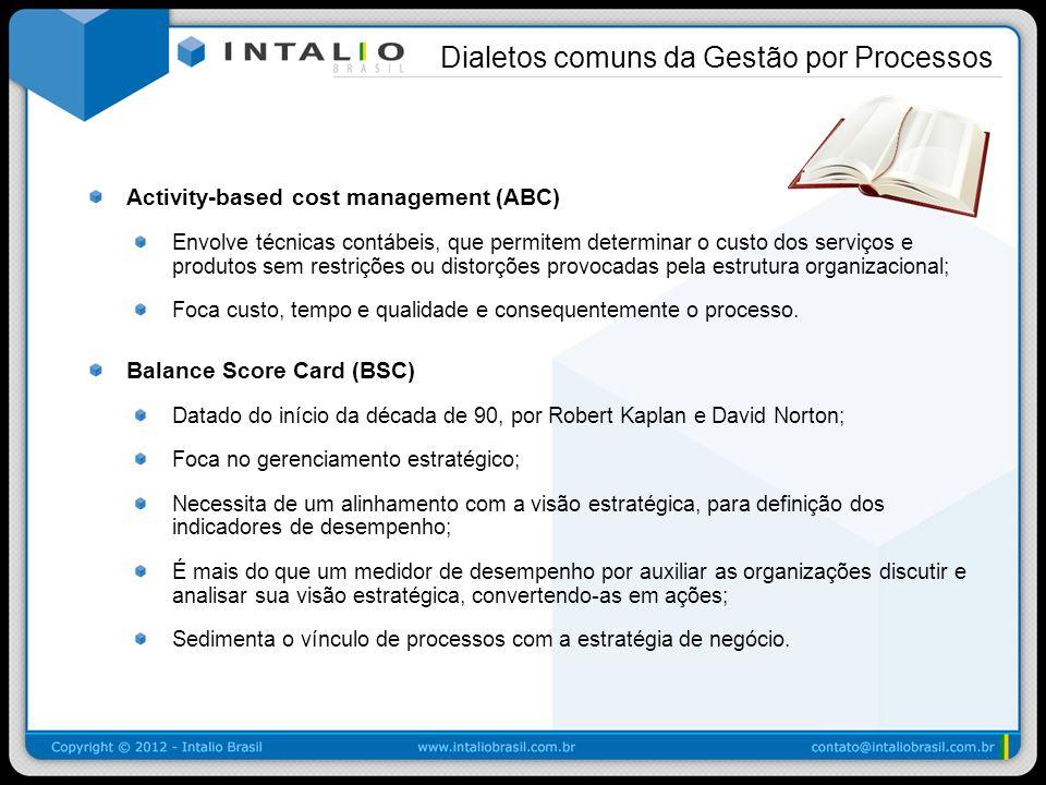 Activity-based cost management (ABC) Envolve técnicas contábeis, que permitem determinar o custo dos serviços e produtos sem restrições ou distorções