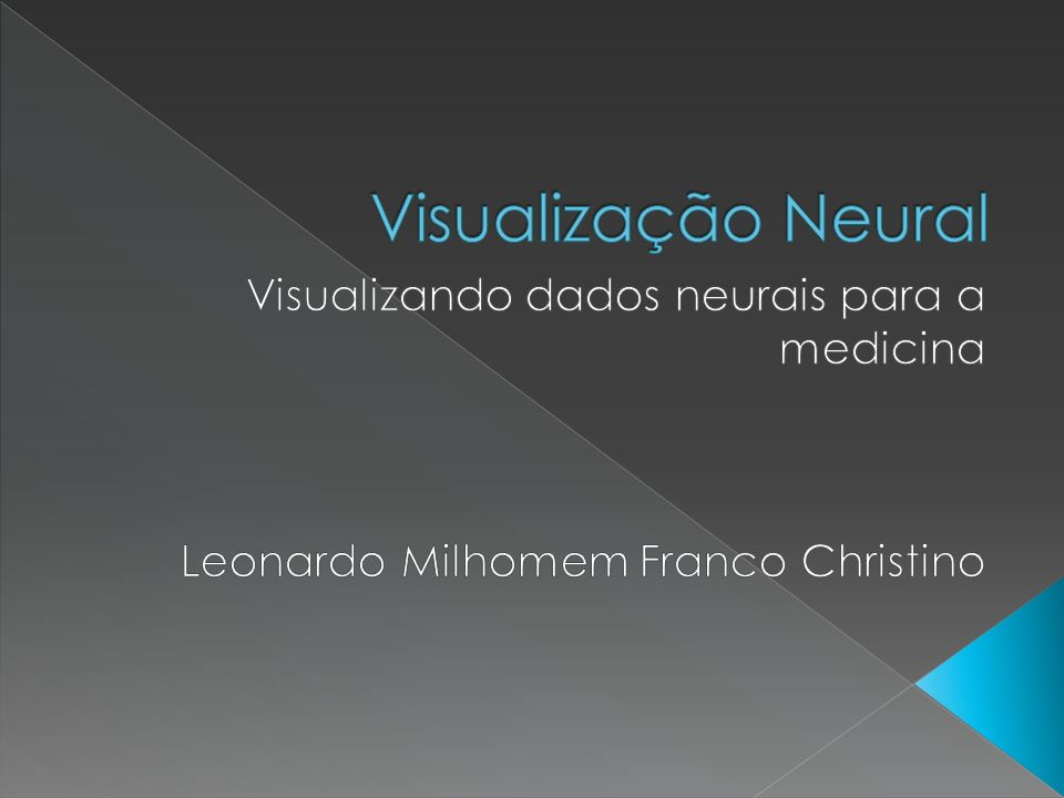 Utilidade prática bem aceita entre neurologistas Uso de resoluções de 21.494 x 25.790 x 1.850 voxels Segmentação Manual Trabalho futuro: segmentação semi-automatico e automatico Axônios Dentritos Células Gliais Vesículos