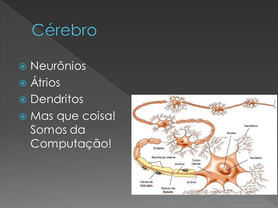 Neurônios Átrios Dendritos Mas que coisa! Somos da Computação!