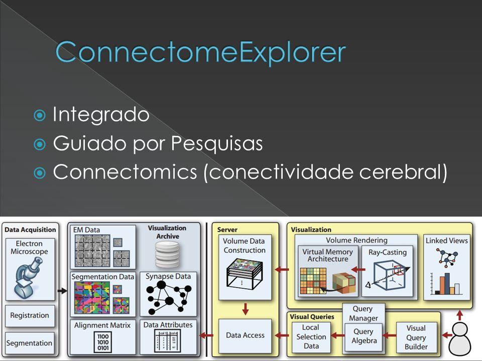 Integrado Guiado por Pesquisas Connectomics (conectividade cerebral)