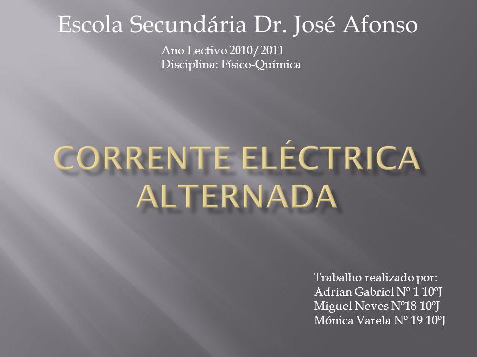 Este trabalho foi realizado no âmbito da disciplina de Físico-Química, a pedido da professora Marta Gonçalves, com o objectivo de conhecer e dar a conhecer as diversas aplicações e funções da Corrente Eléctrica Alternada.