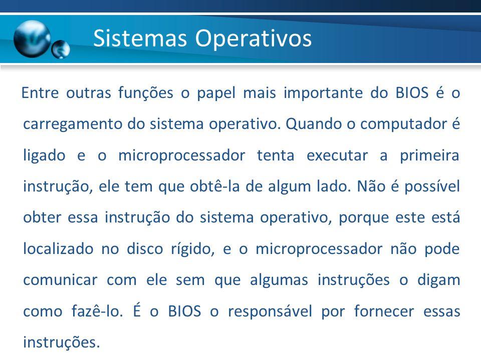 Entre outras funções o papel mais importante do BIOS é o carregamento do sistema operativo. Quando o computador é ligado e o microprocessador tenta ex