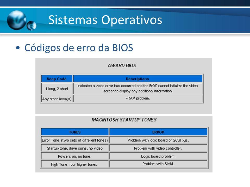 Códigos de erro da BIOS Sistemas Operativos