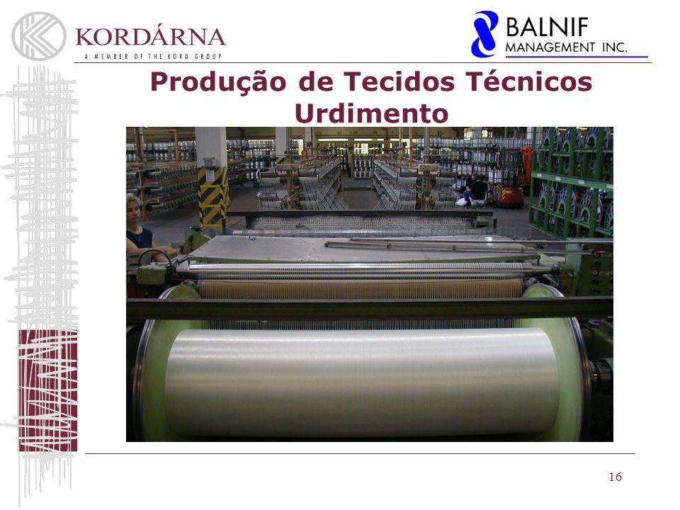 16 Produção de Tecidos Técnicos Urdimento