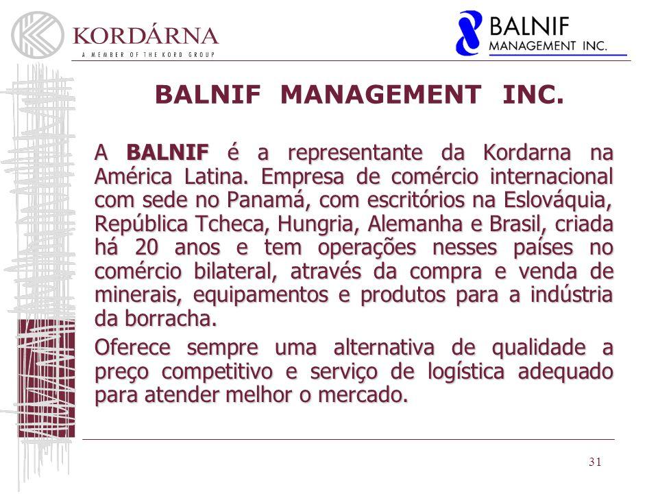 BALNIF MANAGEMENT INC.A BALNIF é a representante da Kordarna na América Latina.