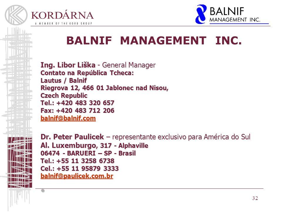 BALNIF MANAGEMENT INC.Ing.