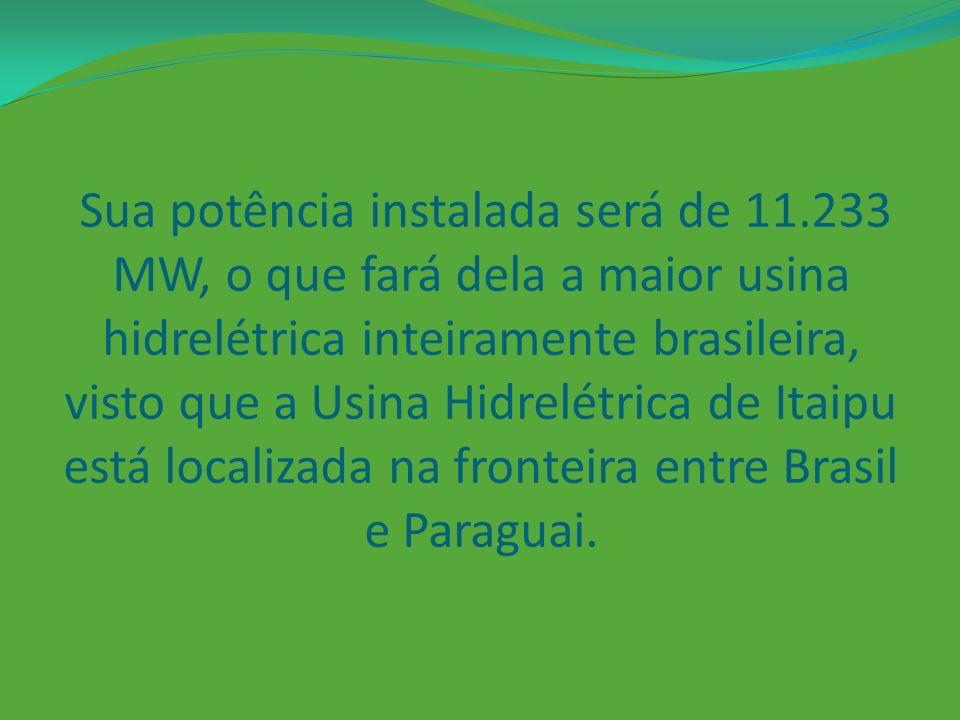 De acordo com o site governamental Agência Brasil, Belo Monte será a única usina hidrelétrica do Rio Xingu.