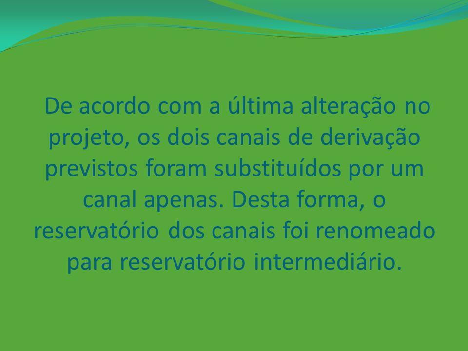 O trecho do Rio Xingu entre o Reservatório do Xingu e a casa de força principal, correspondente a um comprimento de 100 km, terá a vazão reduzida em decorrência do desvio dos canais.