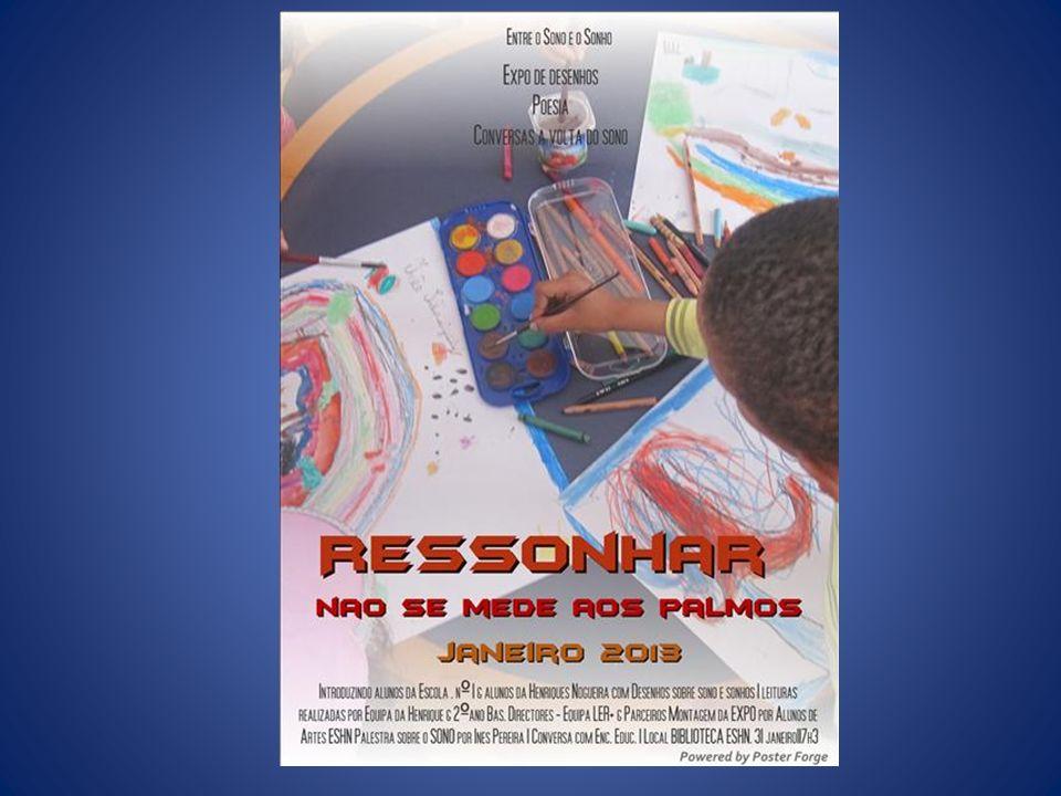 Exposição pública dos desenhos das crianças sobre o SONO e o SONHO Espaço concebido pelos alunos de artes do 12º ano