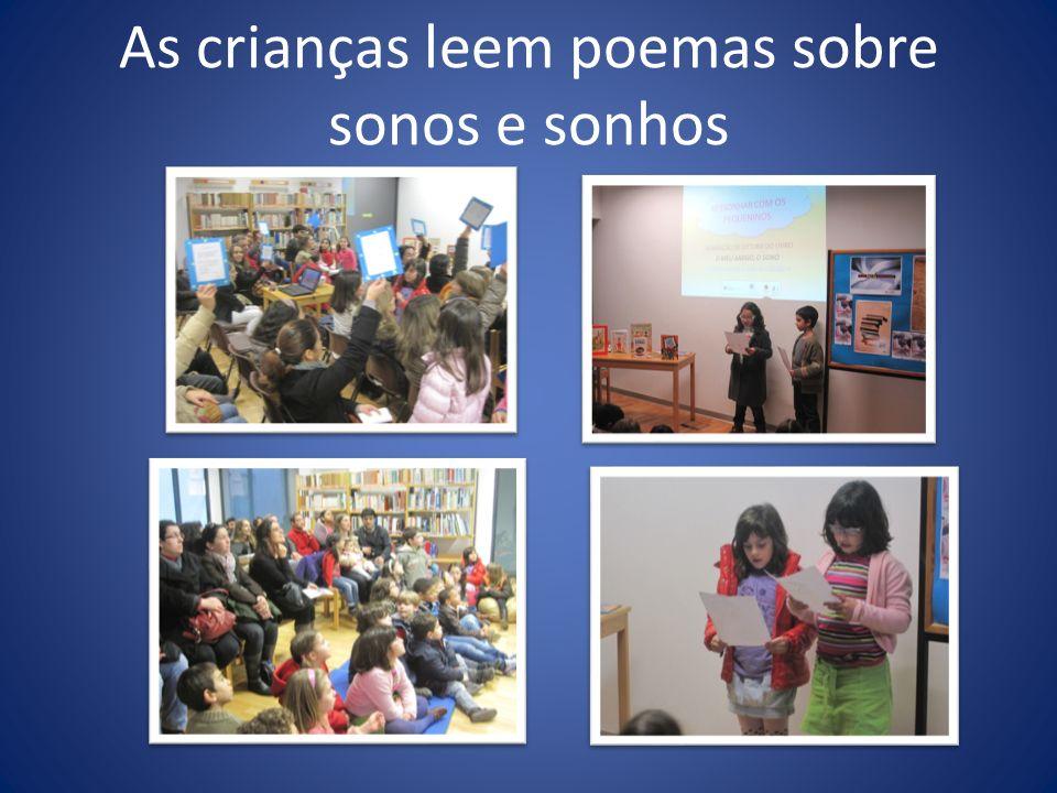 As crianças leem poemas sobre sonos e sonhos