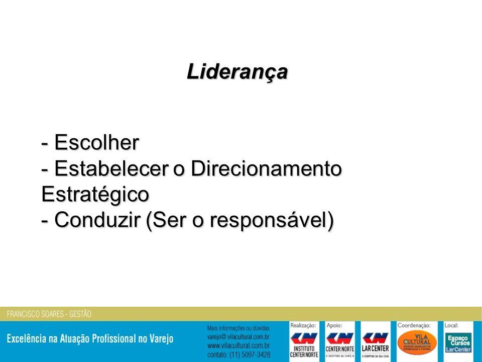 Liderança - Escolher - Estabelecer o Direcionamento Estratégico - Conduzir (Ser o responsável)