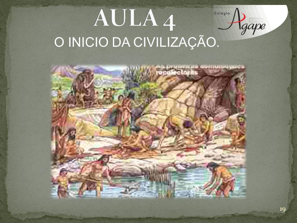 O INICIO DA CIVILIZAÇÃO. 19